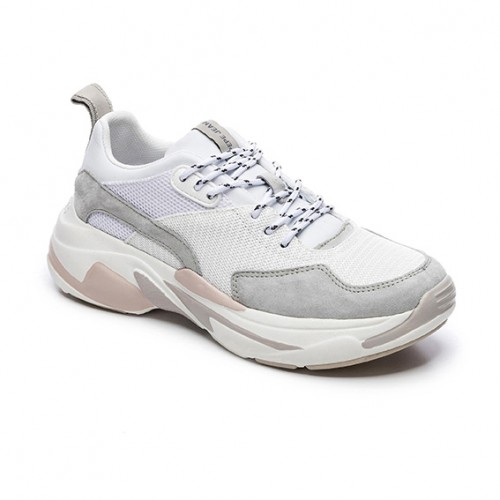 PEPE JEANS PLS 30938 800 HARLOW UP RUN WHITE SNEAKERS ΓΥΝΑΙΚΕΙΑ ΠΑΠΟΥΤΣΙΑ